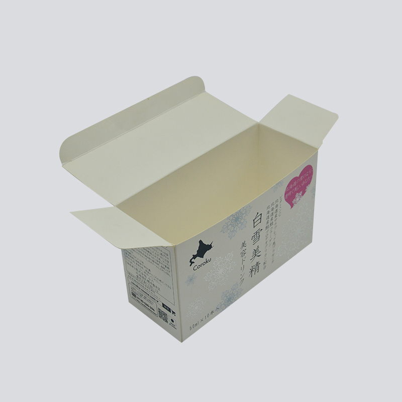 Silver foil stamping buckle bottom box for cosmetic package