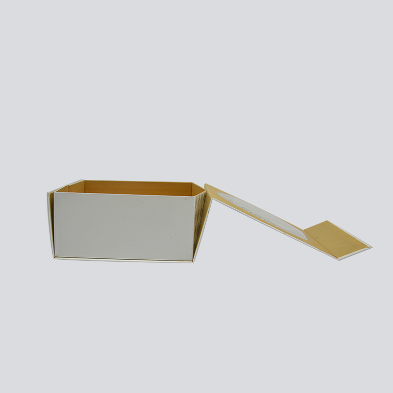 Foldable gift box for luxury cosmetic with PVC window