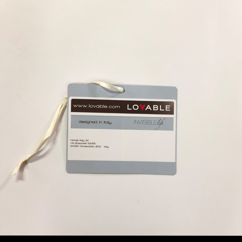 Cost-effective Underwear Specification Tag with Customized Ribbon