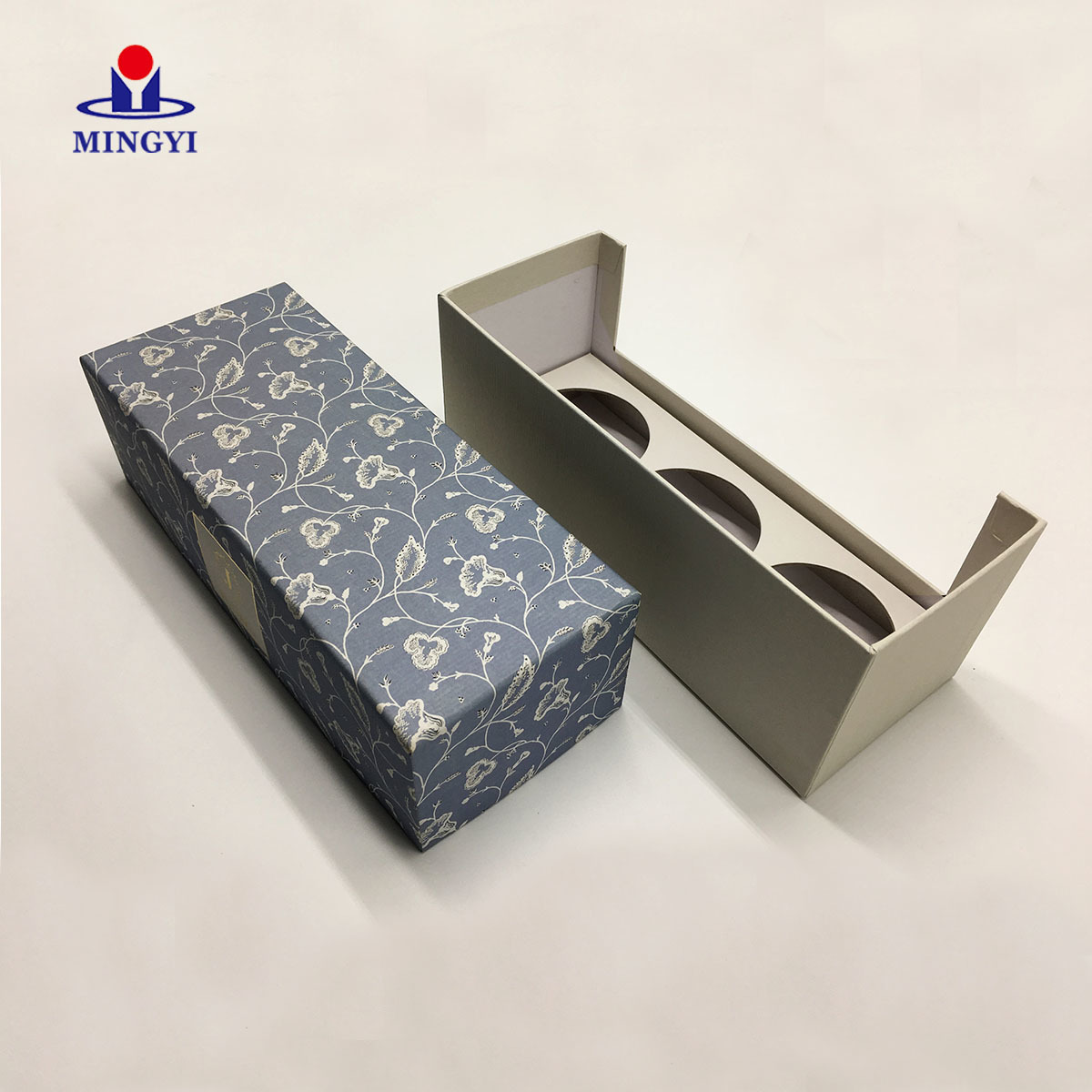 China supplier luxury candle packaging gift box with tray custom logo