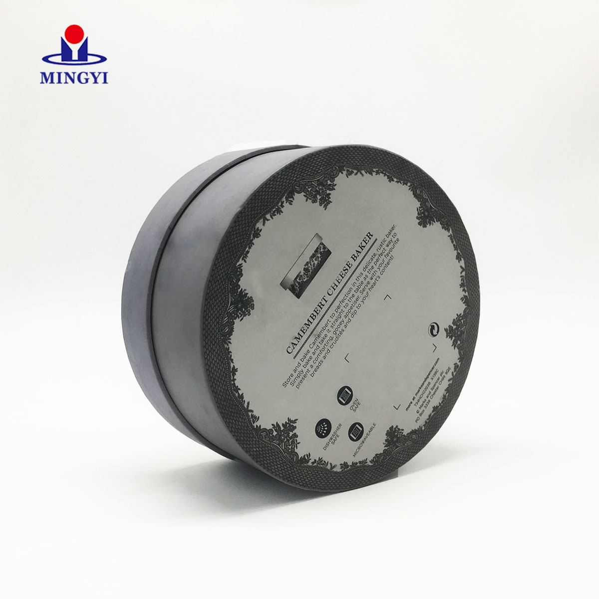 Luxury cardboard Circle cake gift box packaging with lid