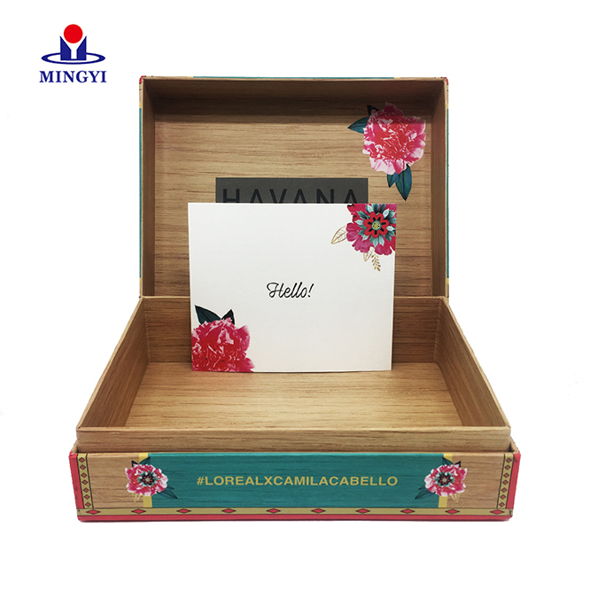 New custom design old school flower gift box square