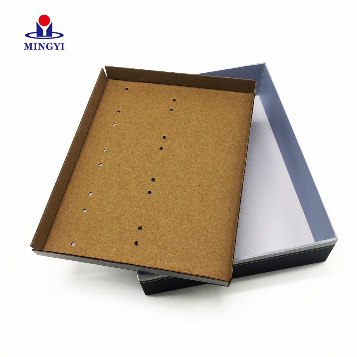 2019 new design cardboard gift packging box with clear lid
