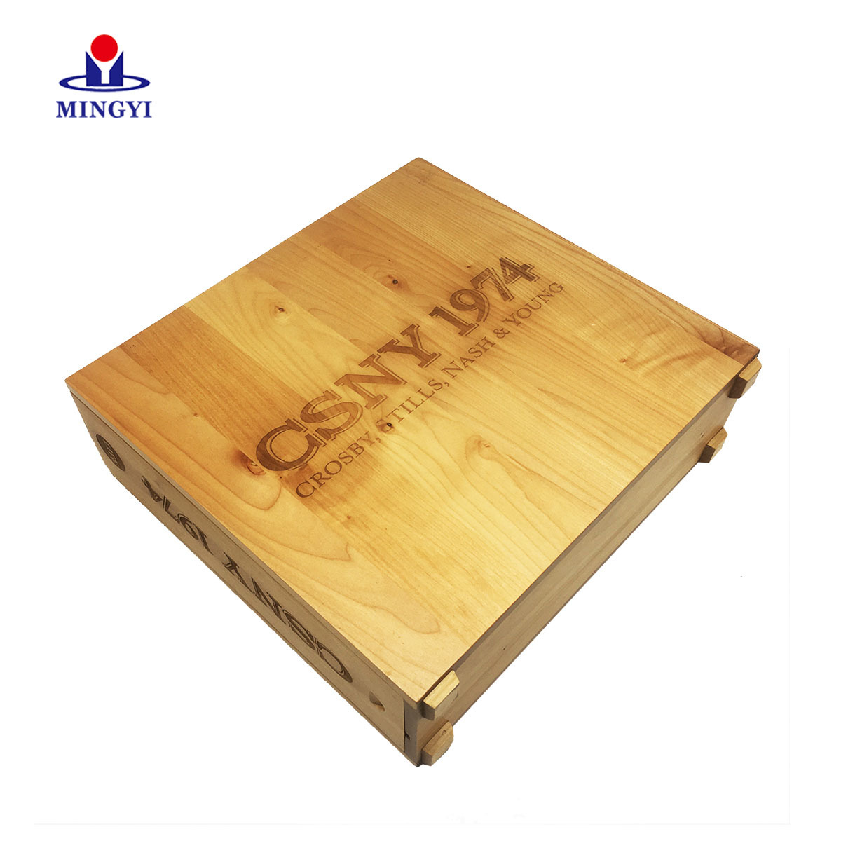 Square wood gift box
