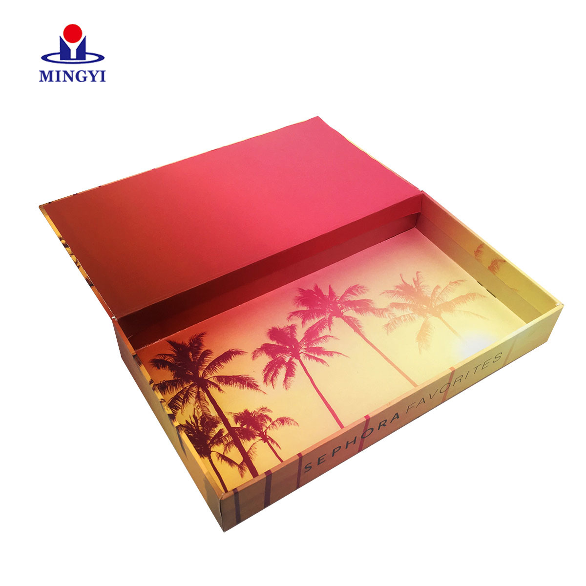 Luxury Paper clamshell shape Cosmetic packaging box