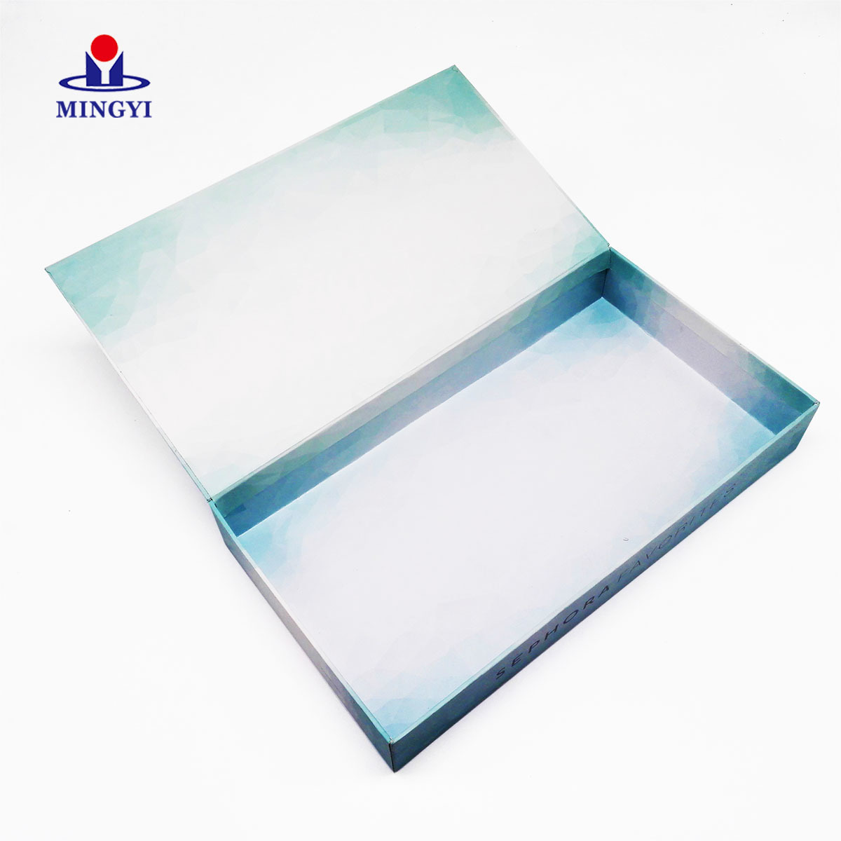 New customized biodegradable cosmetic packaging use clamshell design