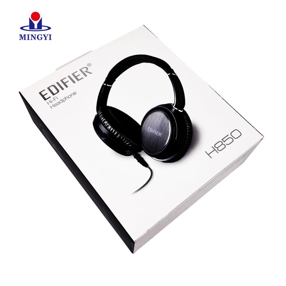 Luxury custom cardboard earphone packaging with hook