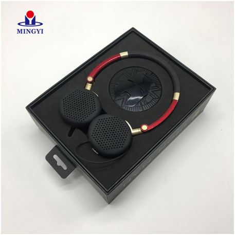 New custom design Iron man style headphones packaging box