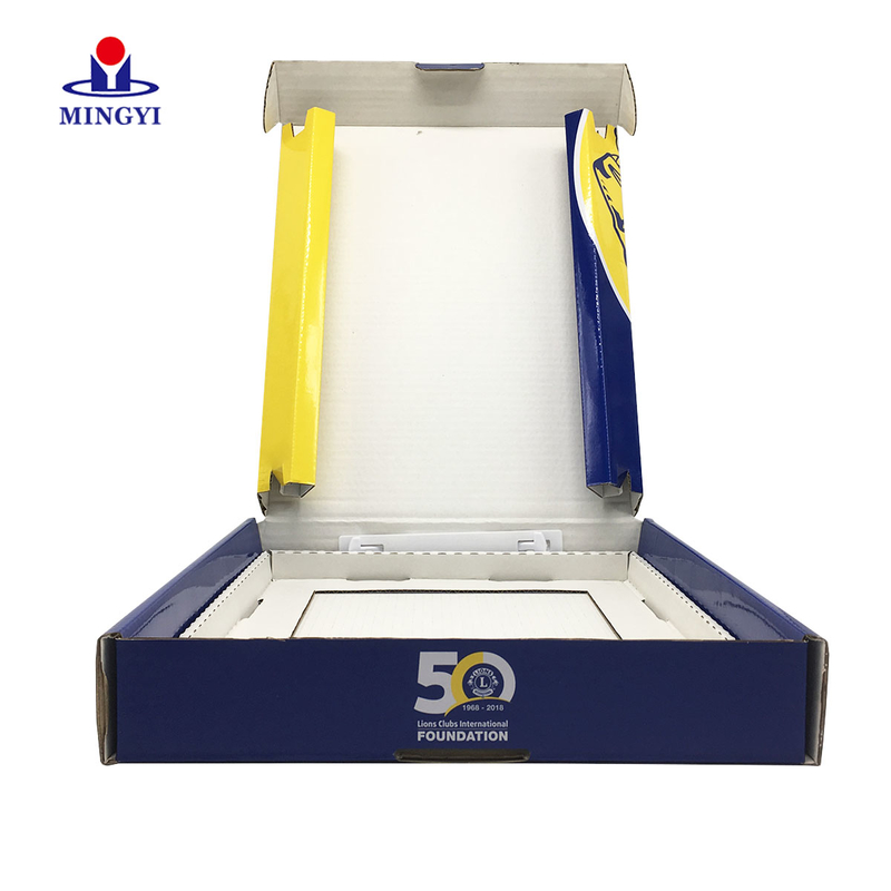 Sports clothes  clamshell corrugated packaging gift box
