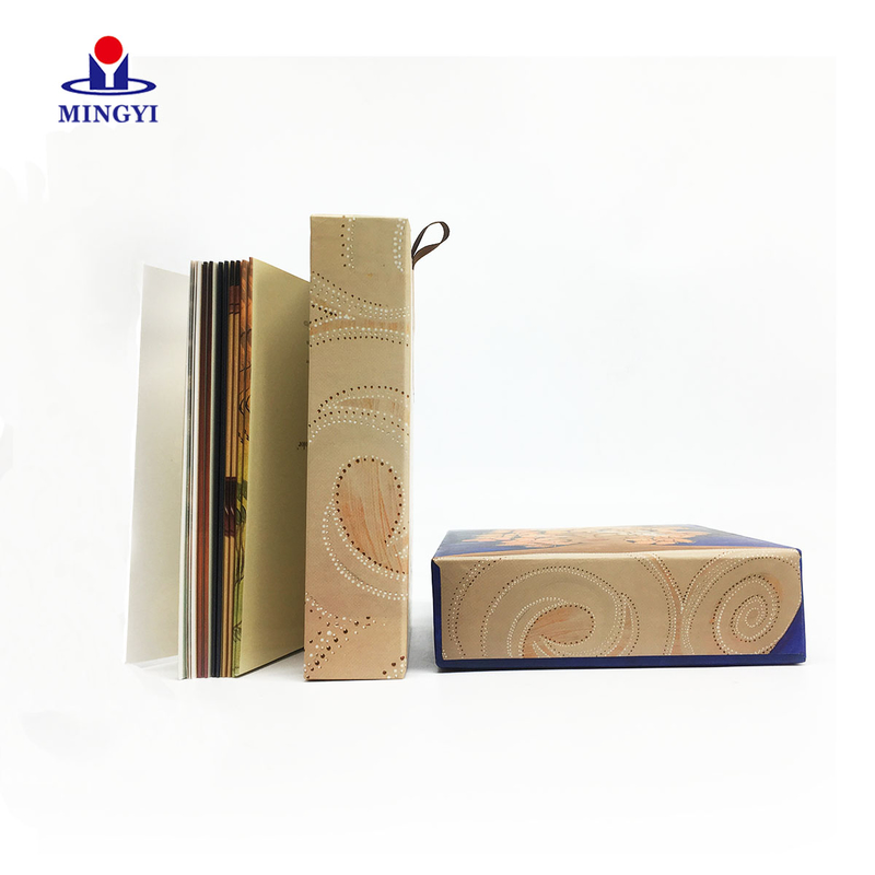 Small size custom souvenir gift card drawer box packaging custom logo with lid for book