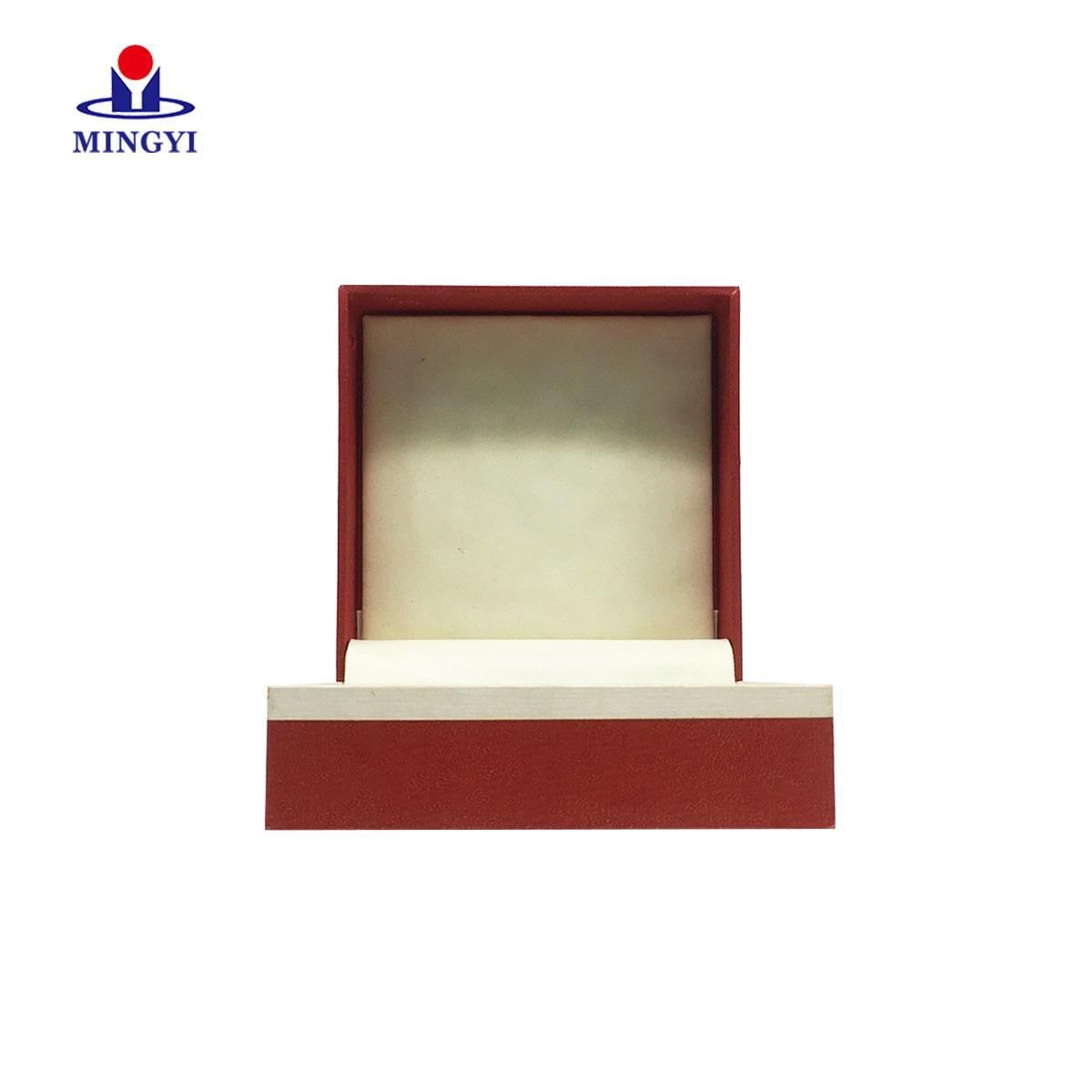 Luxury jewelry clam shell gift packaging box custom logo make in Dongguan china