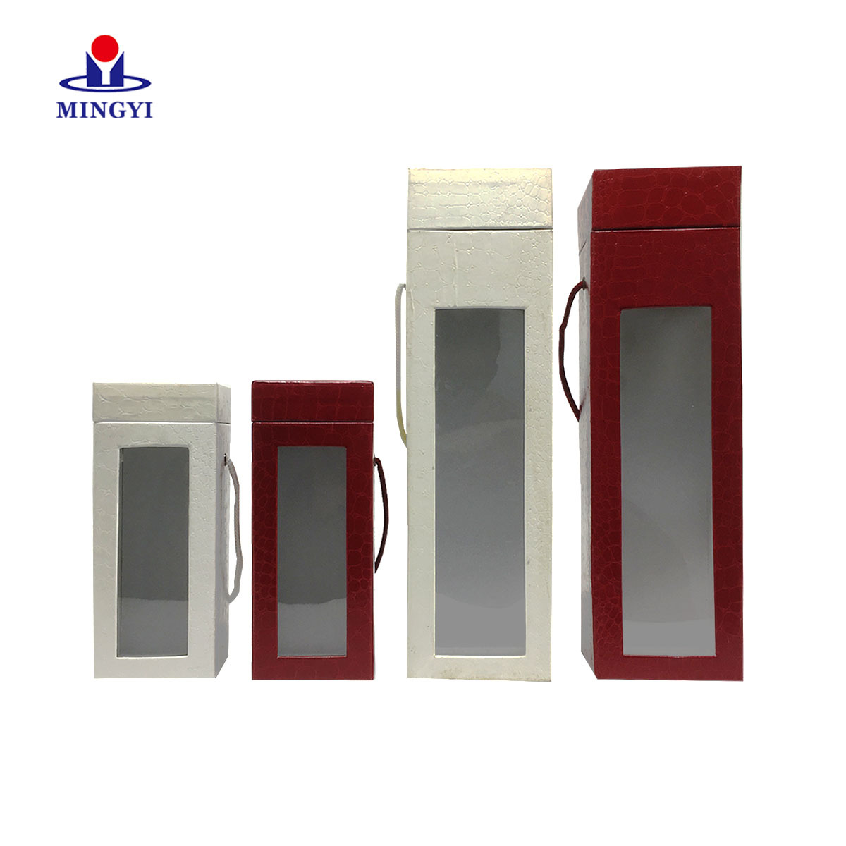New design luxury perfume packaging box with lid and PVC window  custom
