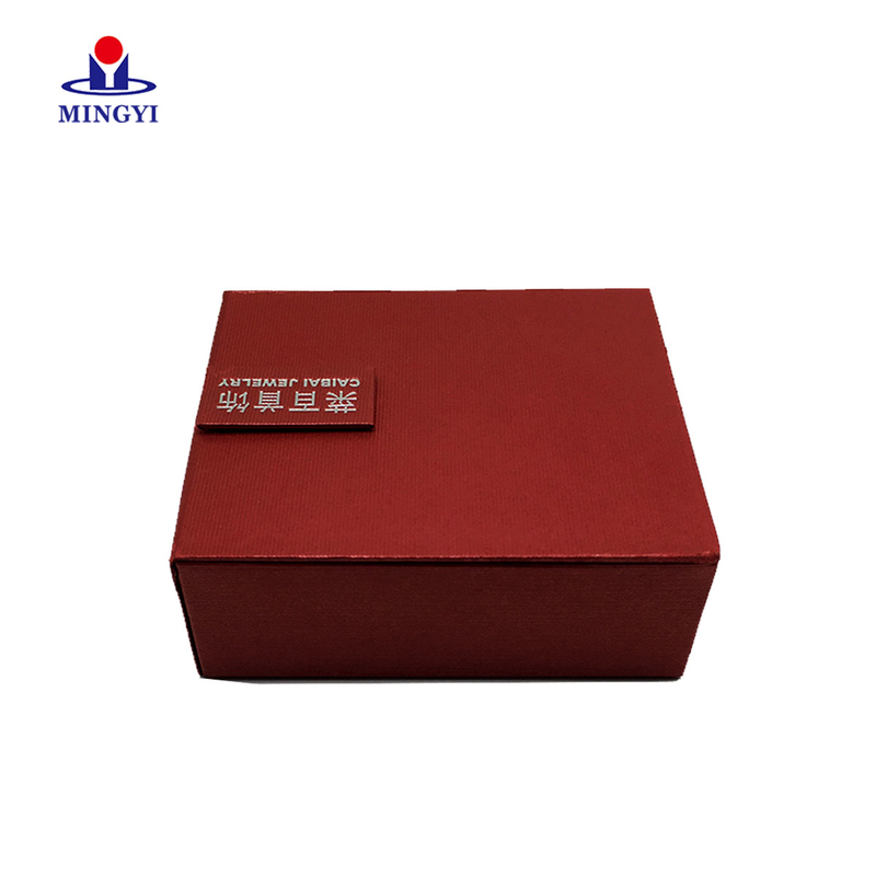 New design clam shell jewelry gift packaging box for famous brand