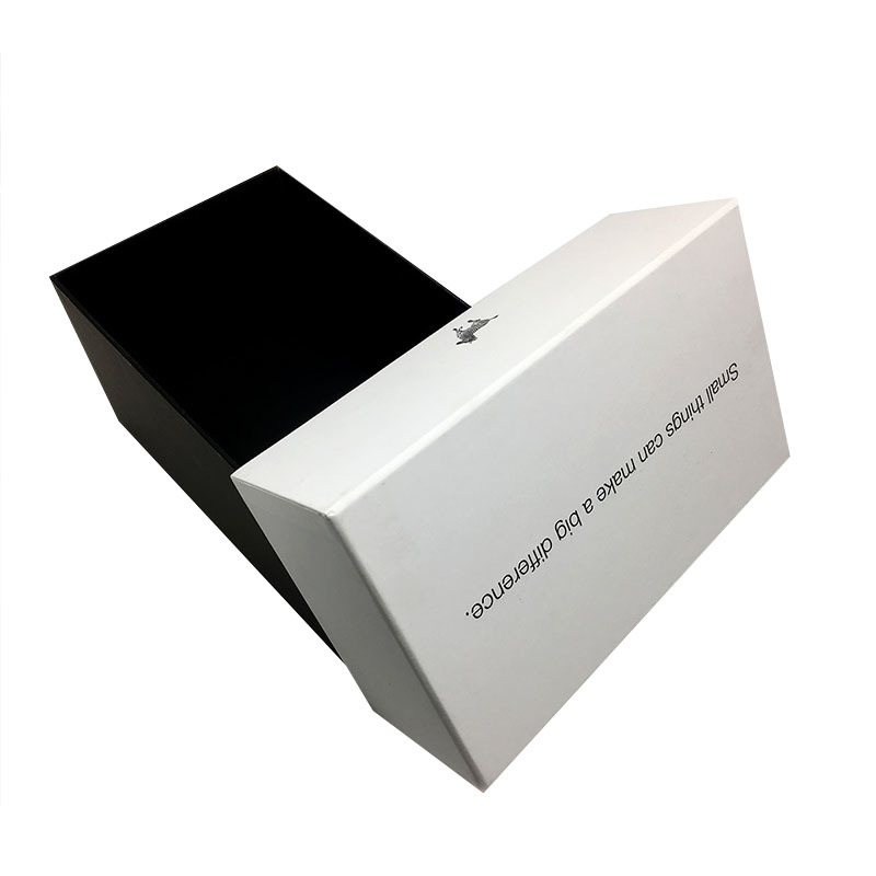 Custom luxury cardboard gift packaging box with lid for well-know brand