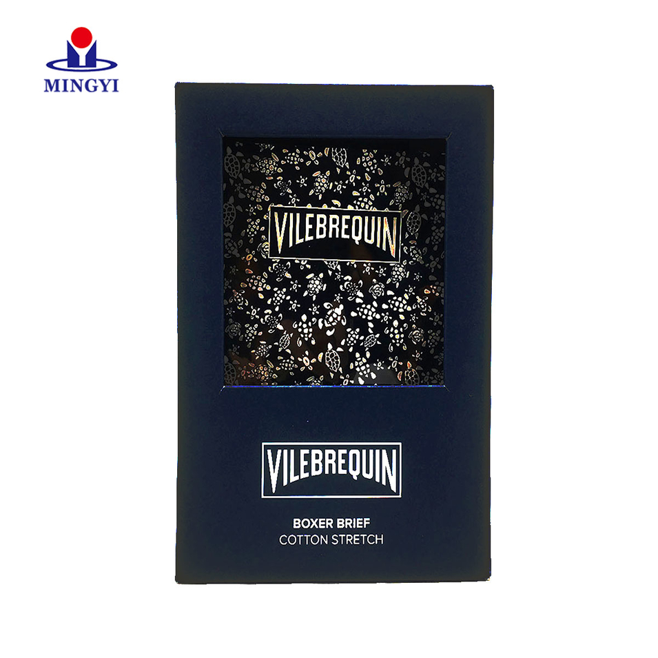 New customized luxury book shape souvenir gift packaging box with PVC window for greeting card