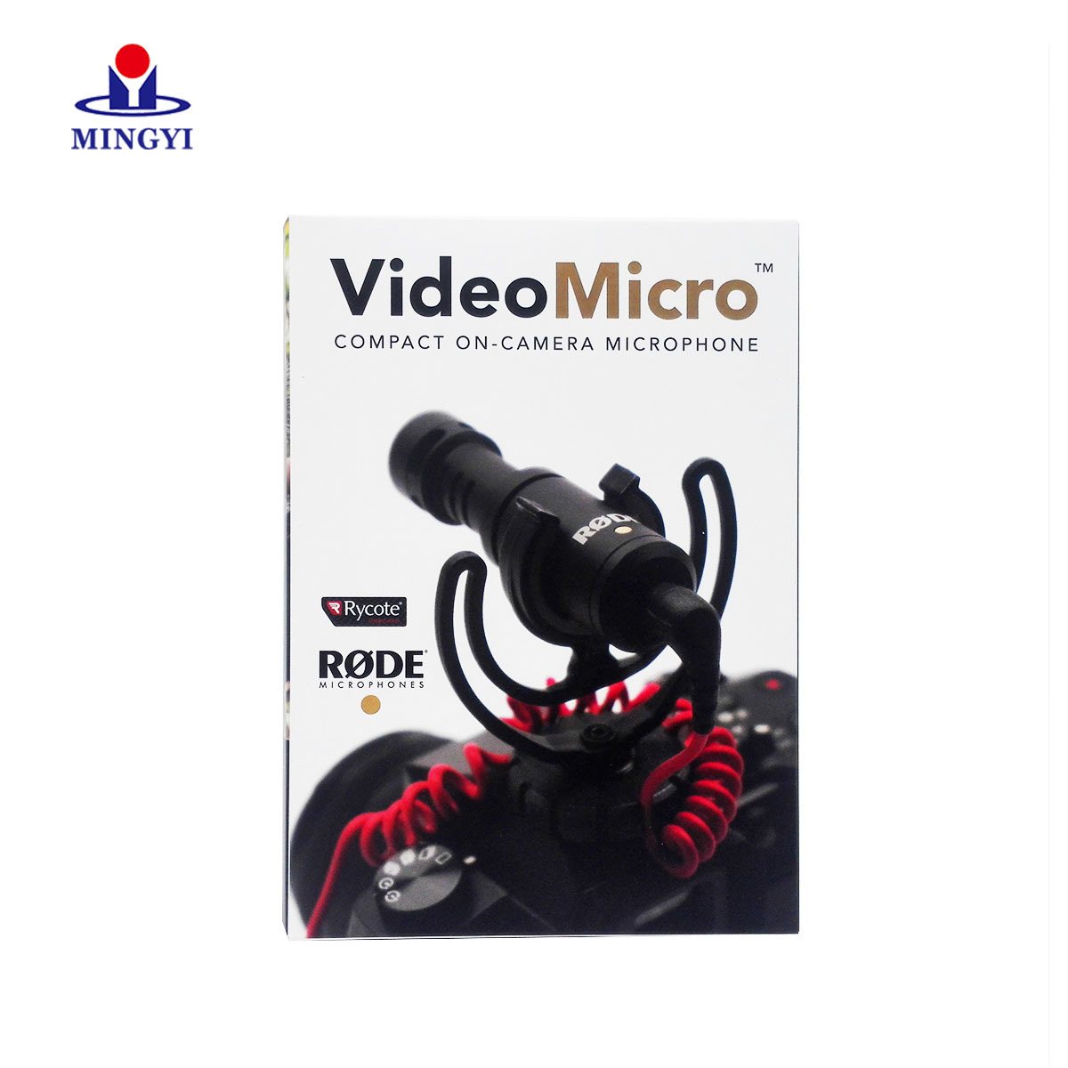 New customized microphone packaging box with lid plug design use a paper card