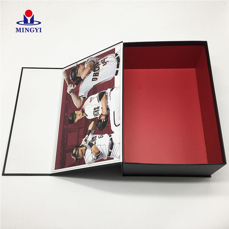 Collapsible Brandy Tube White Card Box Packaging Rectangular Baseball Costume Paper Lunch Gift Box