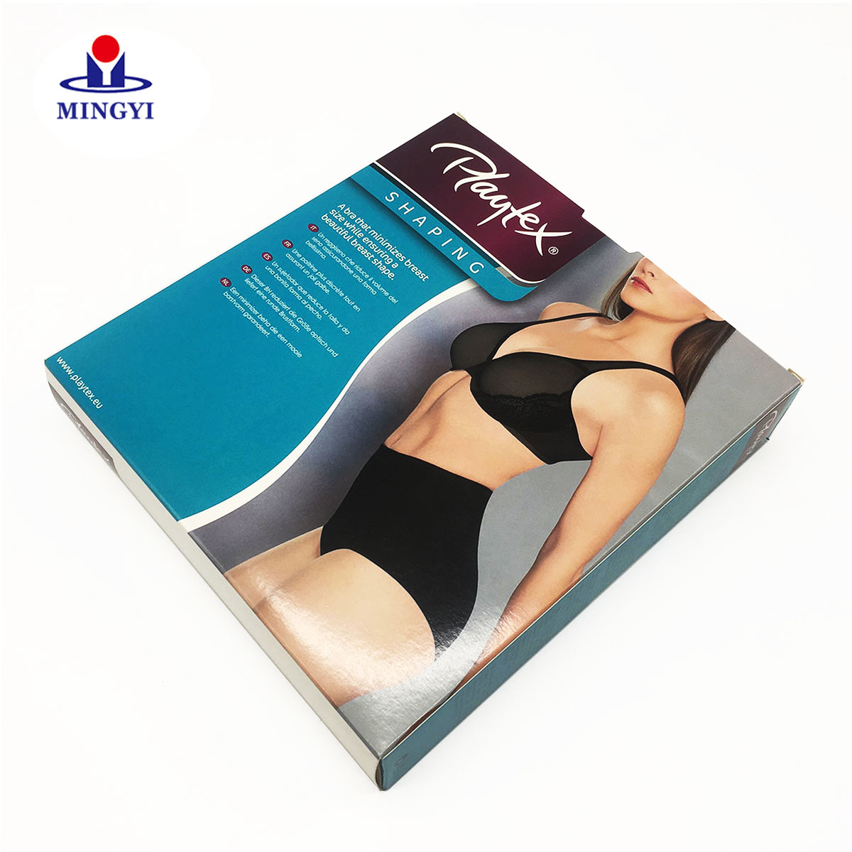 Customized underwear packaging box with luxury with gloss varnishing technique