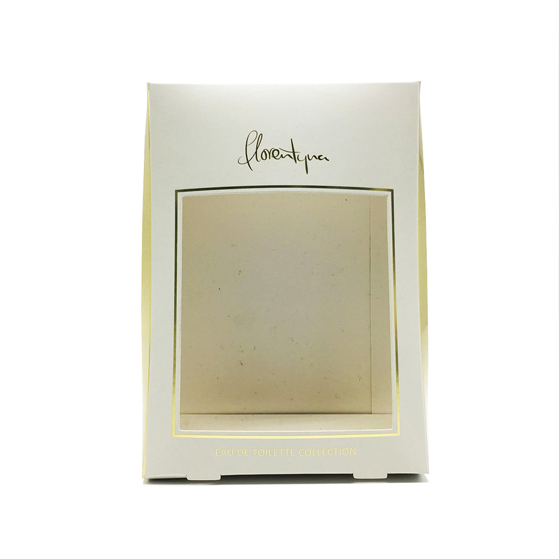 Famous brand customized rose gold cosmetic packaging box with window