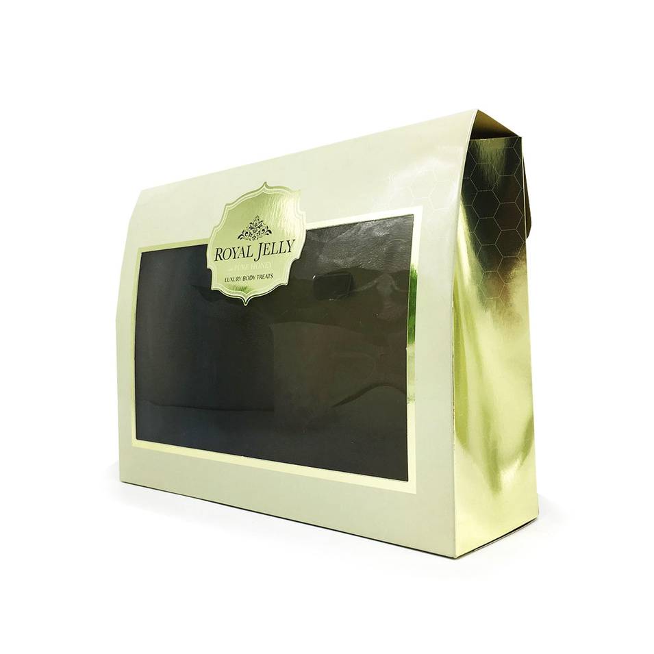 Foil Stamping C1S Gloss Paper Box Rose Gold Cosmetic Box Packaging