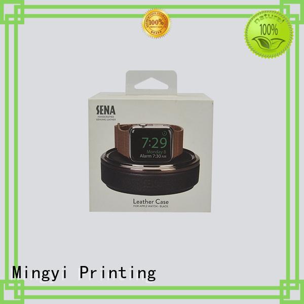 hard gift boxes design pvc watch gift box packaging Mingyi Printing Brand