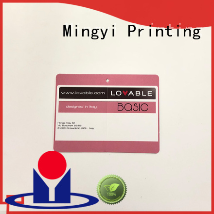best quality tag colorcards customized Mingyi Printing Brand