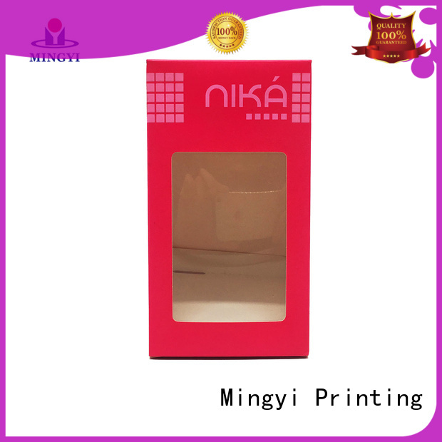 cosmetics silver luxury packaging boxes commodity Mingyi Printing Brand company