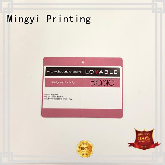 tag clothing colorcards ribbon Mingyi Printing Brand company