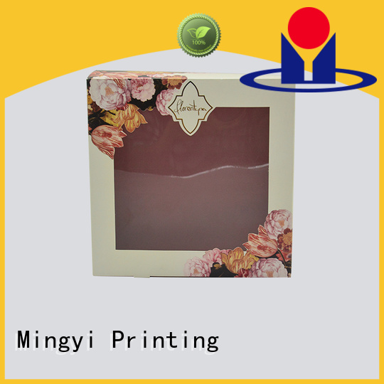 stamping craft Mingyi Printing Brand coloured packaging boxes