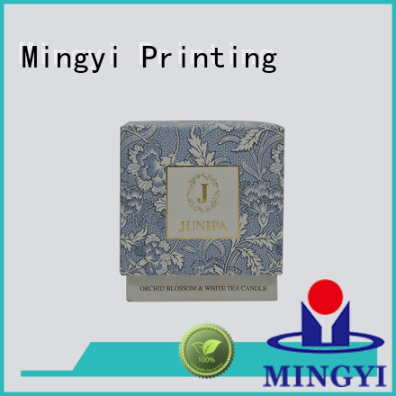 craft candle luxury packaging boxes lid bottom Mingyi Printing Brand company