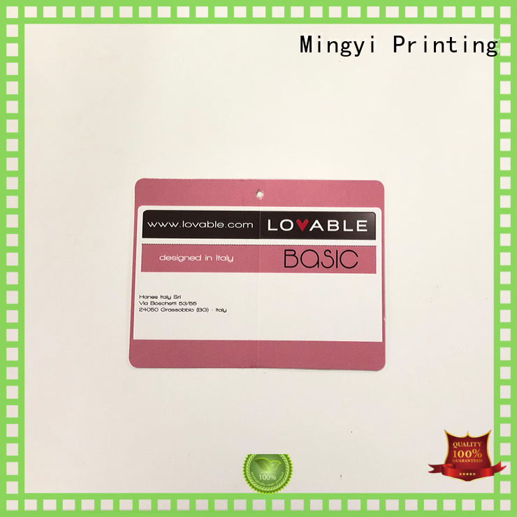 Mingyi Printing Brand clothing best quality custom made labels cost effective supplier