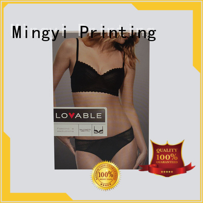 Mingyi Printing Brand rigid base underwear clothing luxury packaging boxes