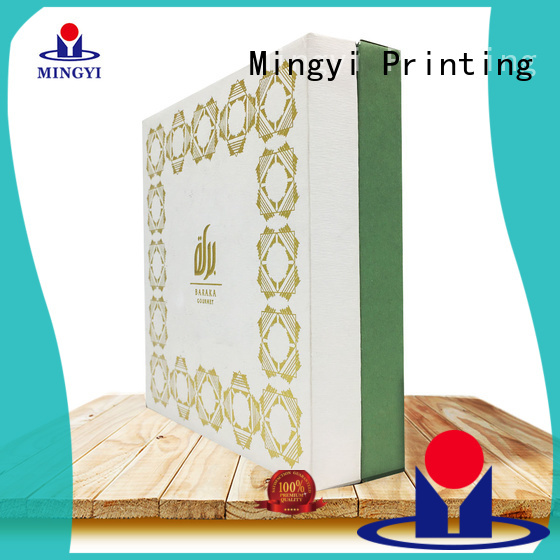 Hot wooden hard gift boxes luxury Mingyi Printing Brand