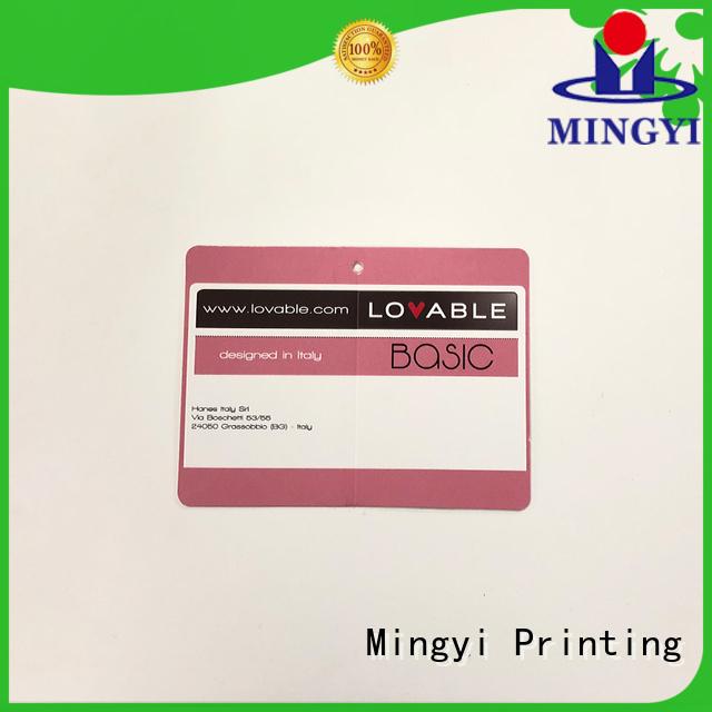 clothing underwear tag custom made labels Mingyi Printing Brand
