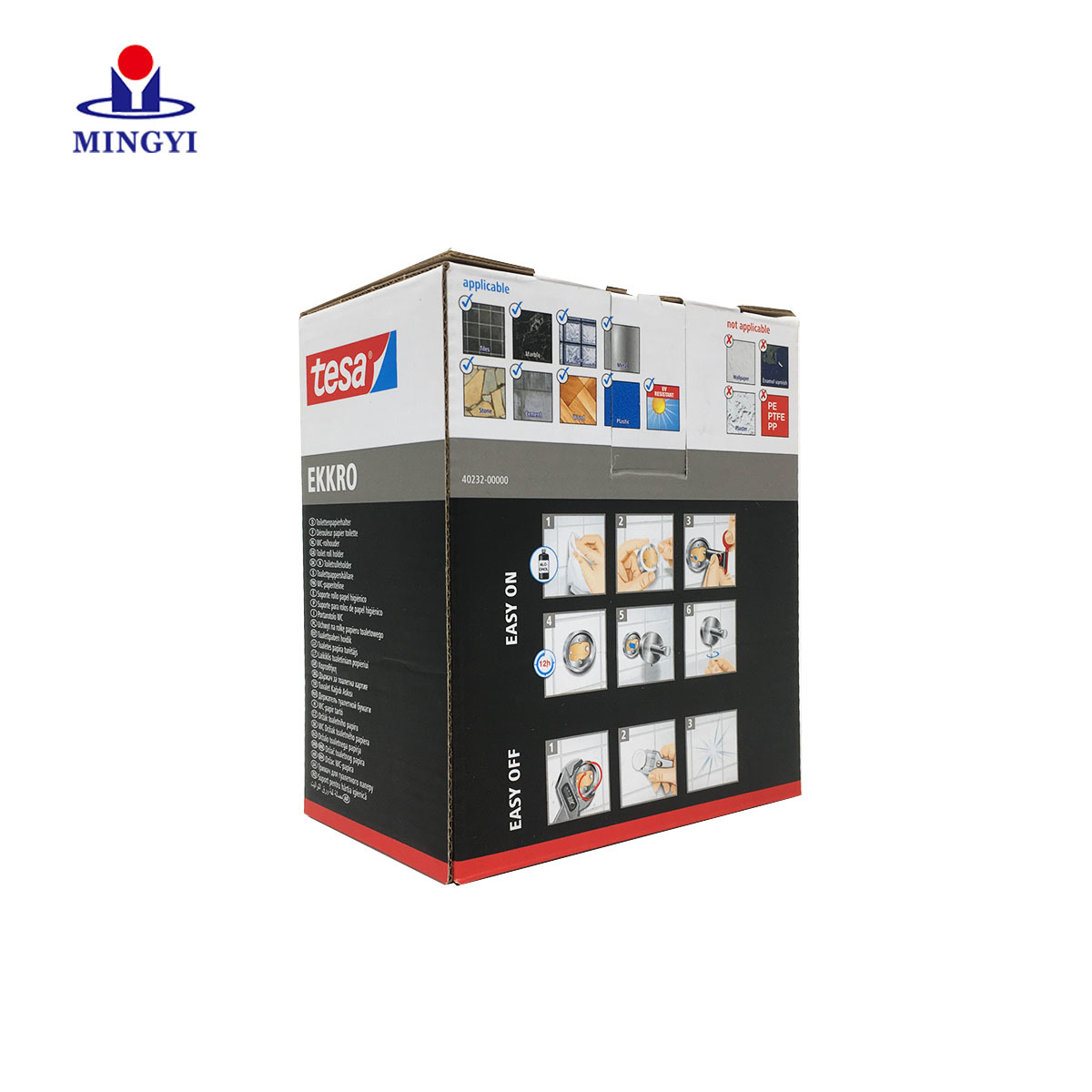 Customized corrugate foldable packaging box with lid plug use CMKY color printing