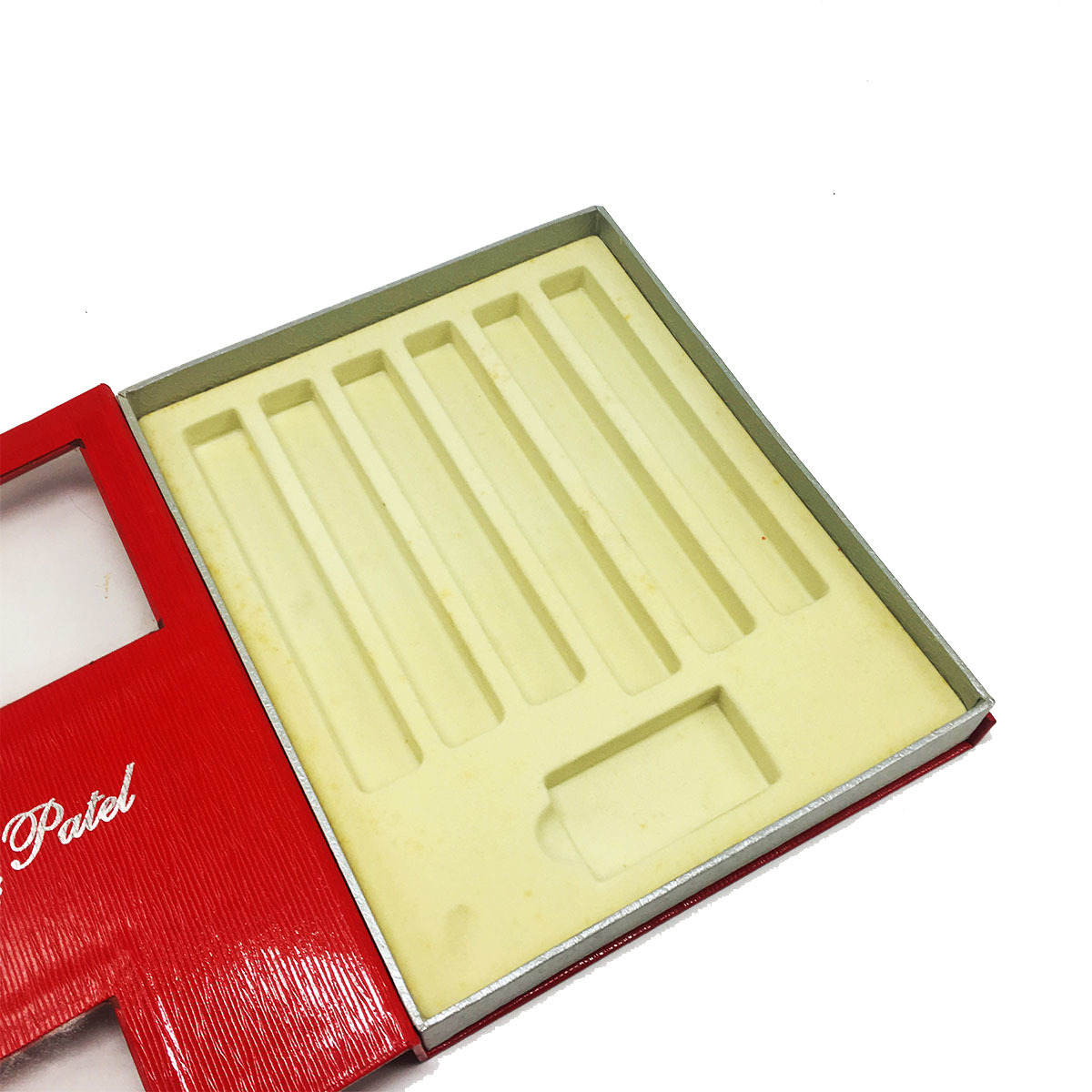 Luxury holiday cigar candle gift box with inserts with PVC windows