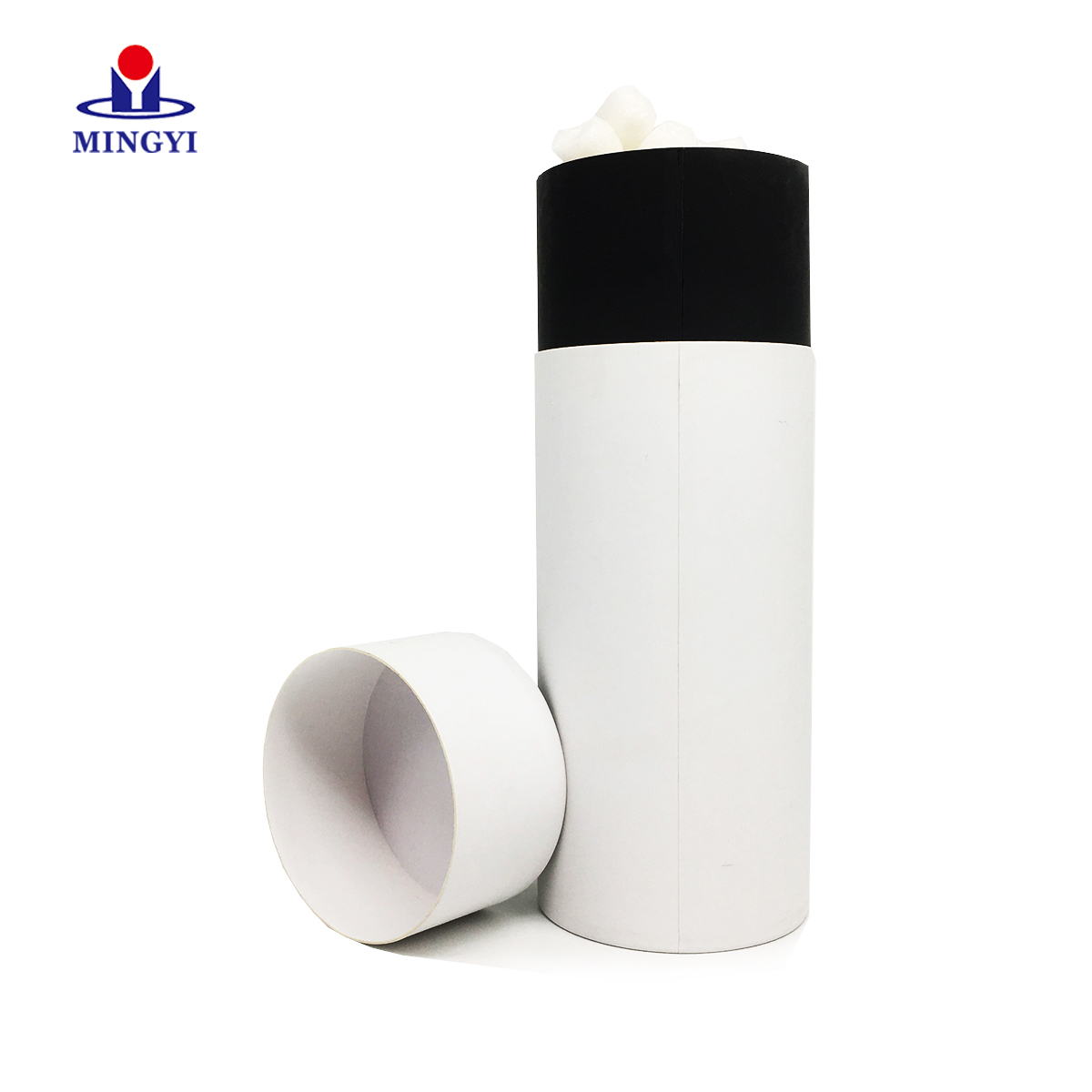 Luxury cylindrical paper  tube gift box tube packaging for speaker  with foam with lid