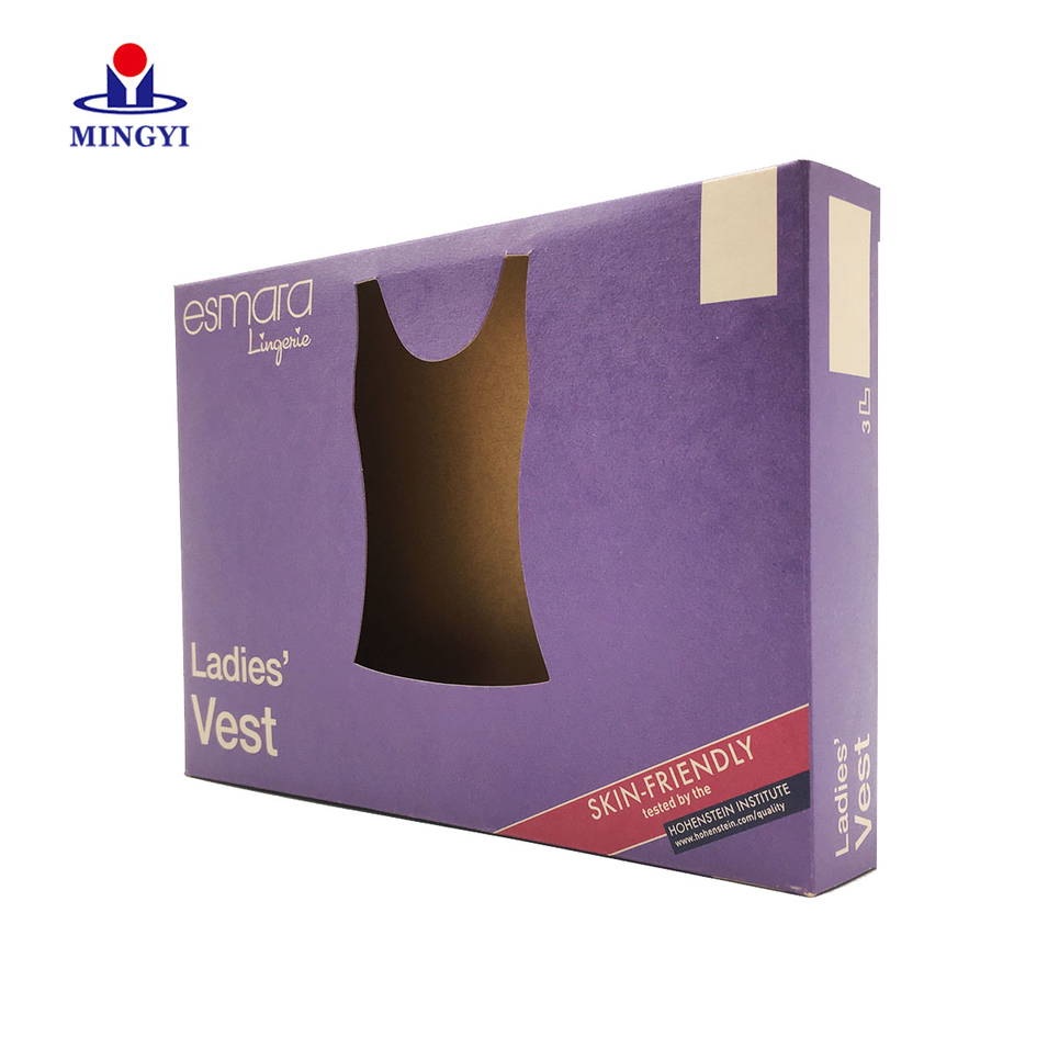 Creative lingerie packaging box with window costom
