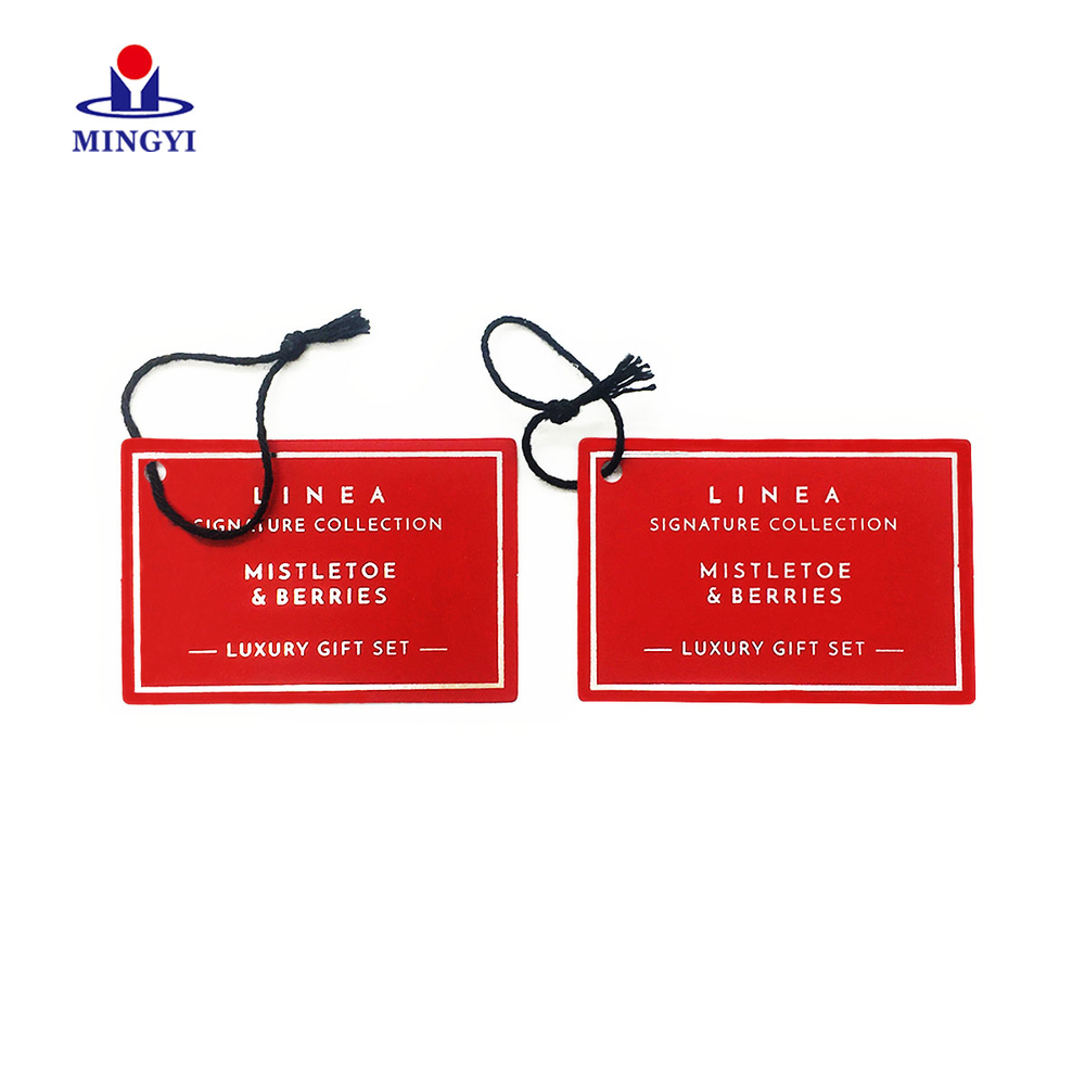 Customized luxury hand tag with nylon string for cloth