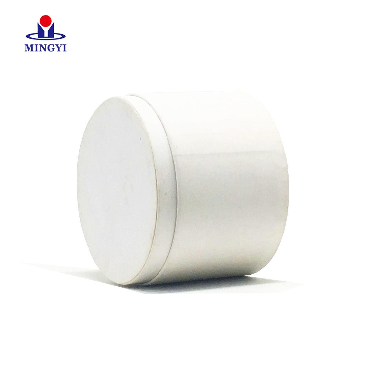 White paper card round box custom logo base and lid sturcture